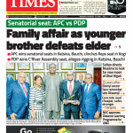 Daily Times Newspaper, Monday, August 13, 2018