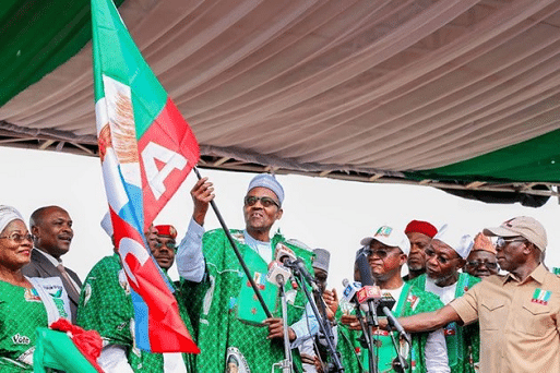 Buhari in Osun, seeks support for APC guber candidate, Oyetola