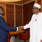 Lagos APC crisis: Buhari holds door meeting with Ambode