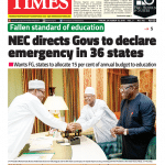 Daily Times Newspaper, Friday, October 19, 2018