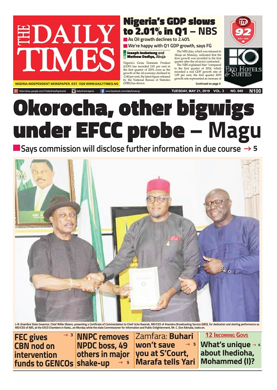 Daily Times Newspaper, Tuesday, May 21, 2019