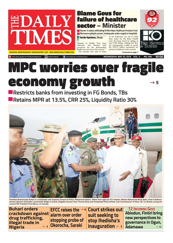 Daily Times Newspaper, Wednesday, May 22, 2019