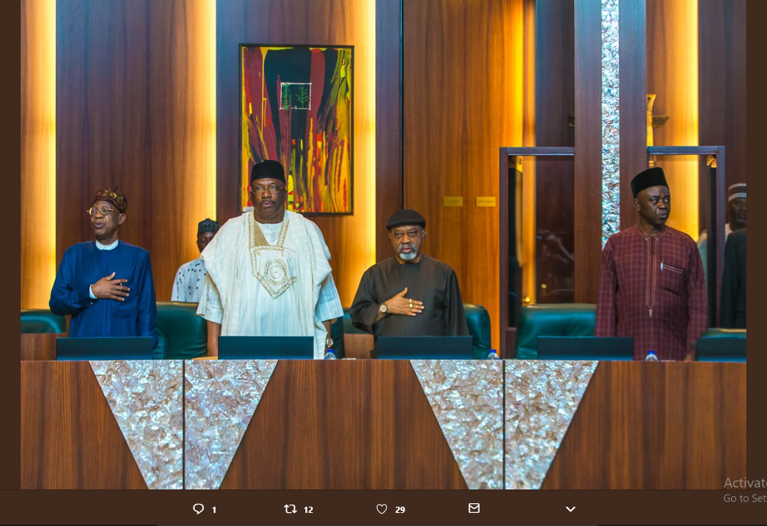 Osinbajo presiding over  Federal Executive Council meeting {Photos}